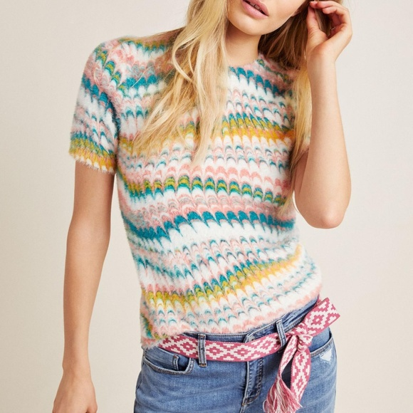 Anthropologie Other - Anthropologie Marbled Sweater Tee